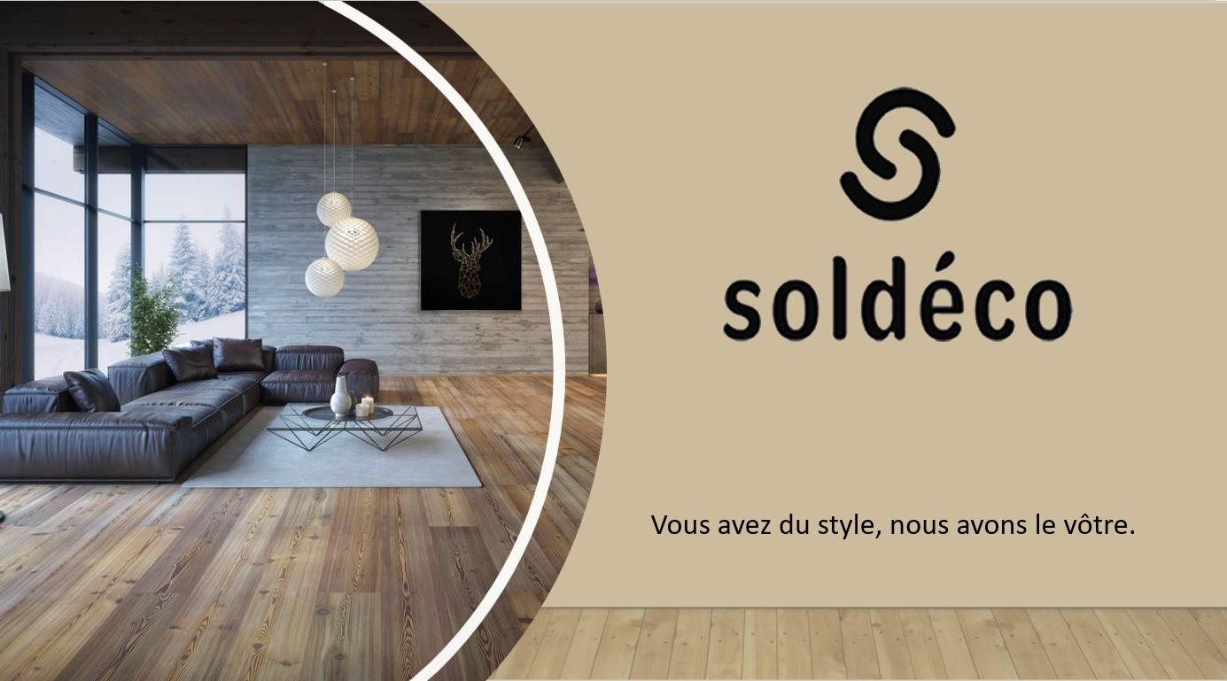 Banière Soldéco : vous avez du style nous avons le vôtre, que ce soit pour les sols, les rideaux, la décoration